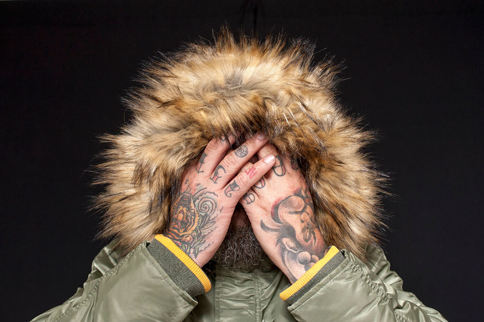 creative portrait tattoo hands