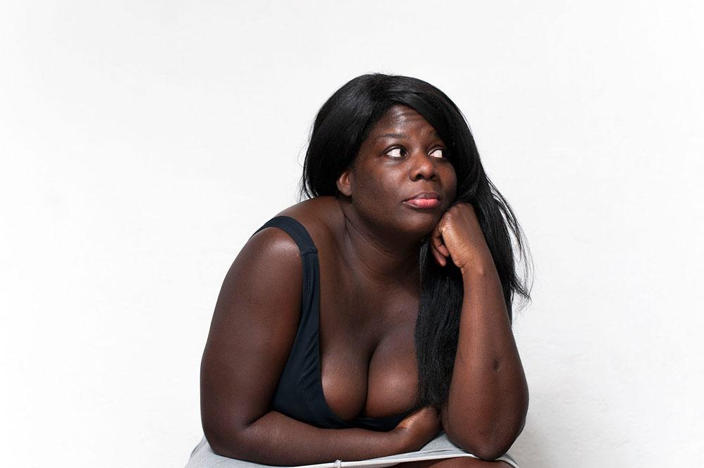 creative portrait boobs
