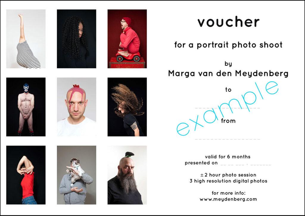 Gift Voucher Portrait Photography Meydenberg