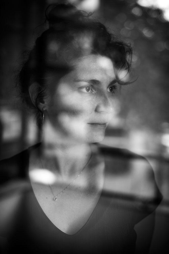creative portrait black and white